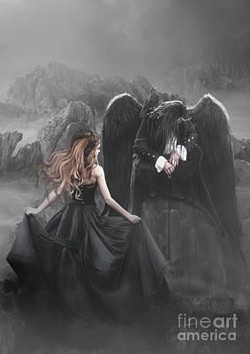 Dark Angels Digital Art - SAD by Babette Van den Berg