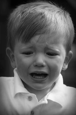 Photograph - Sad Boy by Kelly Hazel
