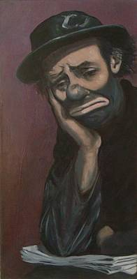 Sad Clown Painting - Sad Emmett Sr by Christina Clare
