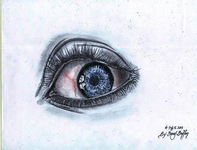 Gerald Griffin Drawing - Sad Eye_a by Gerald Griffin