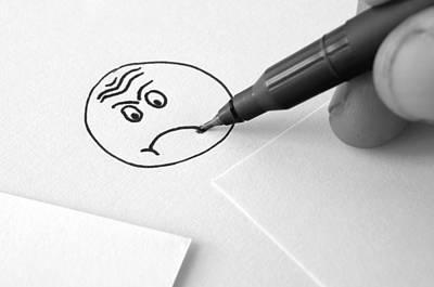 Sad Face Drawing  Art Print by Ioan Panaite