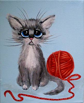 Painting - Sad Kitten by Anne Gardner