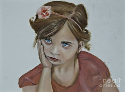 Painting - Sad Little Girl by James Lavott