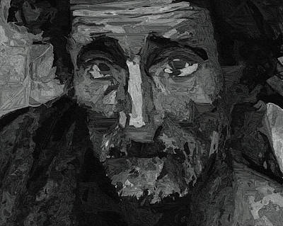 Homeless Painting - Sad Man by Ayse Deniz