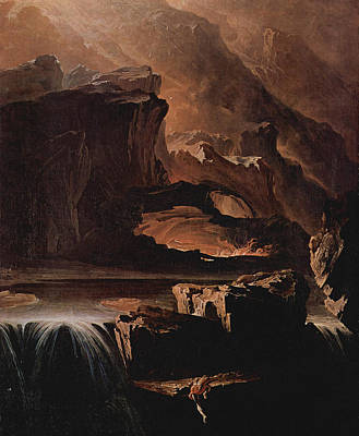 Painting - Sadak And The Waters Of Oblivion  by John Martin
