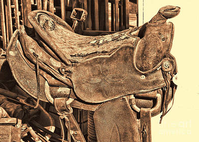 Photograph - Saddle by Audreen Gieger