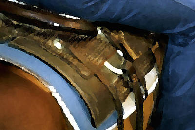 Photograph - Saddle Blanket Levi 520 by Jerry Sodorff