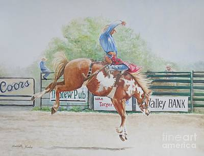 Painting - Saddle Bronc by Charlotte Yealey