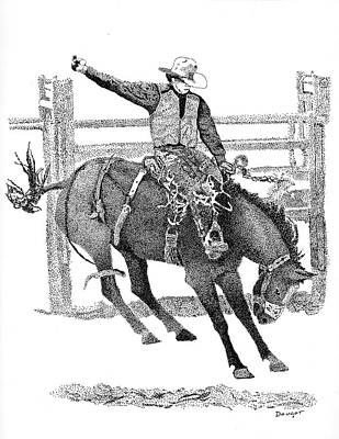 Saddle Bronc Art Print
