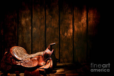 Saddle In The Corner Print by Olivier Le Queinec