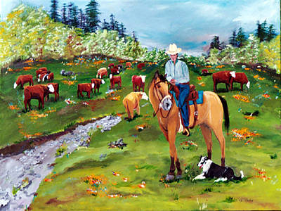 Painting - Saddle Pals by Gail Daley