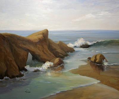 Painting - Saddle Rock Break by Timon Sloane