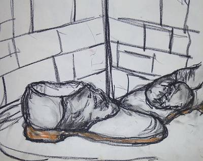 Drawing - Saddle Shoes by Erika Chamberlin