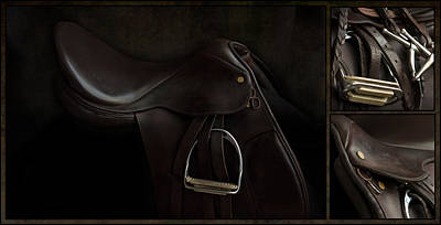 Photograph - Saddle Triptych by M Davis