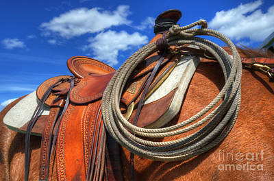 Saddle Up Art Print by Bob Christopher