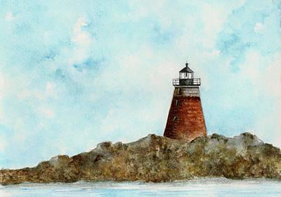 New England Lighthouse Painting - Saddleback Ledge Lighthouse by Michael Vigliotti