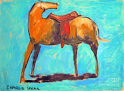 Saddled Pony Series Print by Charlie Spear