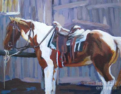 Saddled Up Art Print by Katrina West