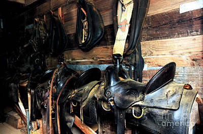Photograph - Saddles 103 by Vinnie Oakes