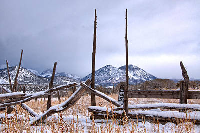 Photograph - Saddles And Fence Posts by Eric Rundle