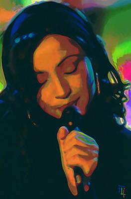 Lips Digital Art - Sade 2 by  Fli Art
