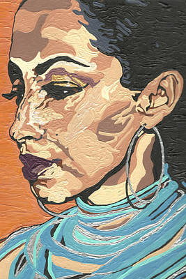 Art Print featuring the painting Sade Adu by Rachel Natalie Rawlins