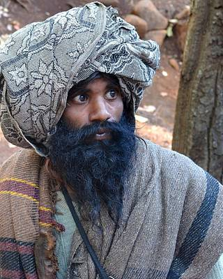 Sadhu At Amarkantak India Art Print
