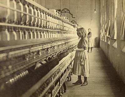 Sadie Pfeiffer, Spinner In Cotton Mill Art Print