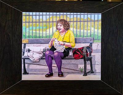 Sadie Sadie Knitting Lady Original by Betsy Frahm
