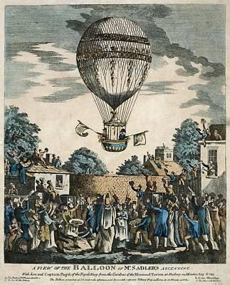Sadler's Royal Balloon Flight, 1811 Art Print by Science Photo Library