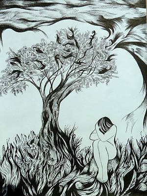 Metaphor Drawing - Sadness by Anna  Duyunova