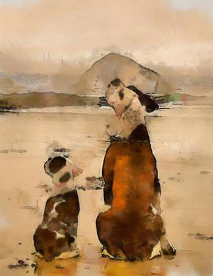 Art Print featuring the painting Sadness  by Georgi Dimitrov