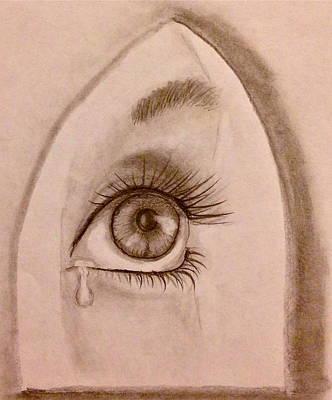 Sadness In The Eye Art Print