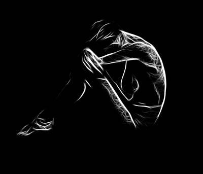 Sadness Art Print by Steve K