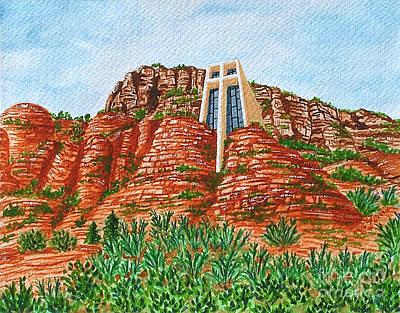 Sadona Church Art Print by Val Miller