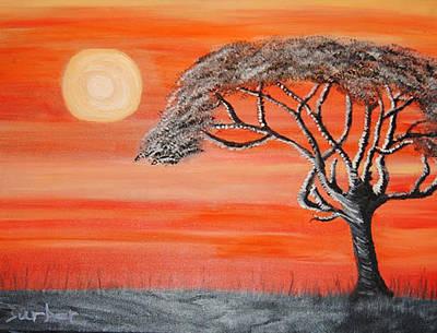 Safari Sunset 2 Art Print