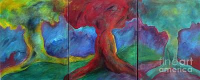 Fauvist Style Painting - Safe Arbor by Elizabeth Fontaine-Barr
