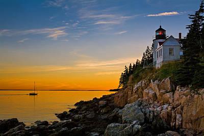 Bass Harbor Lighthouse Photograph - Safe Harbor by Guy Schmickle