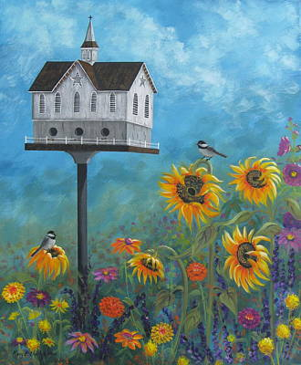 Sunflower Painting - Safe Haven by Mary Charles