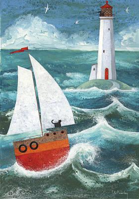 Safe Passage Variant 1 Art Print by Peter Adderley