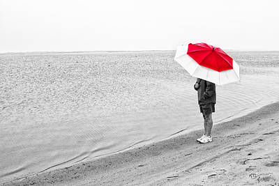 Safe Under The Umbrella Art Print