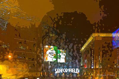 Ichiro Photograph - Safeco Field Poster by Stephen Schuda