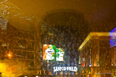 Ichiro Photograph - Safeco Field by Stephen Schuda
