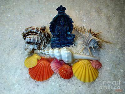 Safeguard Symbol Seashells Art Print by Hanza Turgul