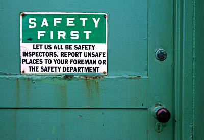 Photograph - Safety First by Daniel Woodrum