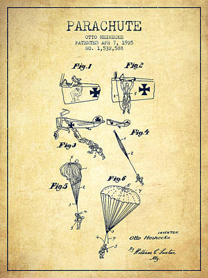 Namaste With Pixels - Safety parachute patent from 1925 - Vintage by Aged Pixel