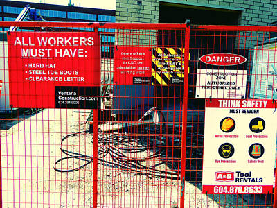Art Print featuring the photograph Safety Signs by Laurie Tsemak