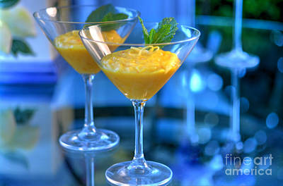Martini Royalty-Free and Rights-Managed Images - Saffron Lemon Custard - by Sabine Edrissi by Sabine Edrissi