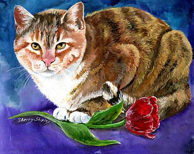 Saffron Print by Sherry Shipley