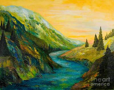 Wyoming Painting - Saffron Sky by Larry Martin